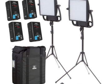Rent: Two Astra 6x BiColor LED Panels + x4 VMount Batteries