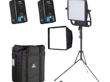 One Astra 6x BiColor LED Panel + 2x VMount Batteries