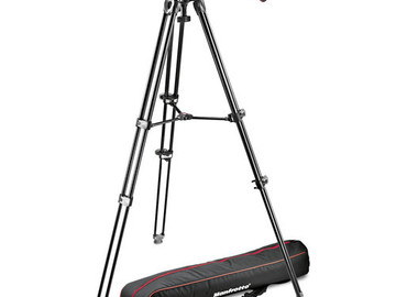 Rent: Manfrotto MVH502A Fluid Head and MVT502AM Tripod with Carryi