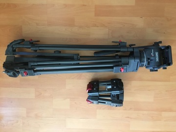 Rent: Cartoni Focus 12 Tripod with Manfrotto 100mm Hi Hat