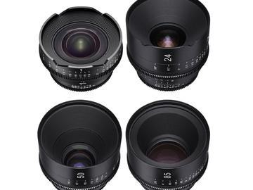 Rent: Rokinon Xeen EF Cinema Lens set of 4 (14,24,50,85)