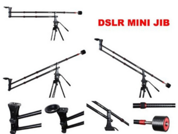 Rent: Portable 4' Camera Jib Crane w/Manfrotto Tripod