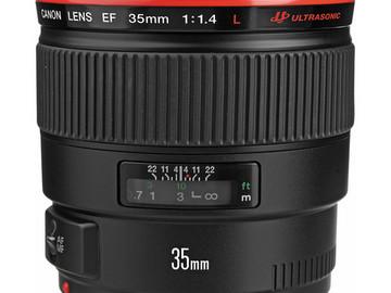 Rent: Canon 35mm (1.4) USM Lens