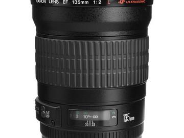 Rent: Canon 135mm (2.0) USM Lens