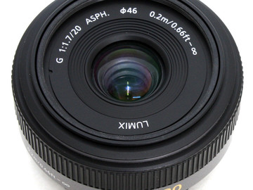 Rent: Panasonic 20mm f/1.7 Pancake Lens for Micro Four Thirds