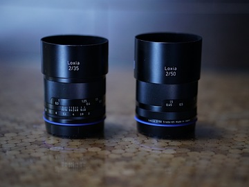 Rent: Zeiss Loxia 35mm & 50mm with Circular ND filters (52mm)