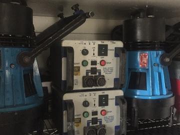 Rent: 3 x LTM 1.2K (1200w) HMI Par w/ Powergems Electronic Ballast