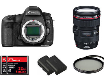 Rent: Canon 5D MKIII package with 24-105 L series lens
