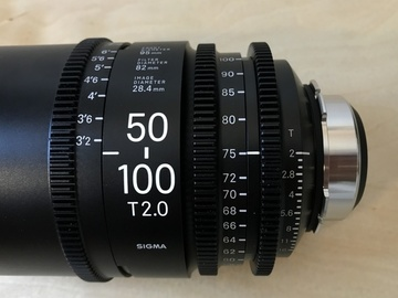 Rent: Sigma Cine Zooms - 18-35mm and 50-100mm T2 PL Mount w/ Case