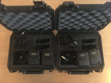 Rent: 2 Sennheiser G3 Wireless Lav kits