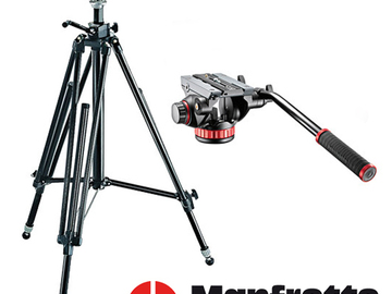 Rent: Manfrotto 028B Video Tripod with 502HD Pro Fluid Head