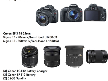 Rent: Canon Sl1 Package