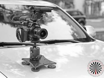 Rent: Rig Wheels magnetic car mount with ball head mount