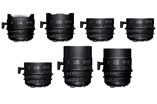 Sigma Cine FF High Speed Primes PL Mount 5-Lens Choice