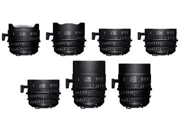 Rent: Sigma Cine FF High Speed Primes PL Mount 4-Lens Choice