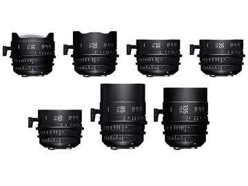 Rent: Sigma Cine FF High Speed Primes PL Mount 4-Lens Choice