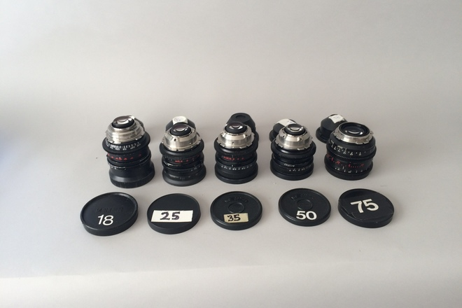 Zeiss Distagon Hi speed Primes w/ clip-on matte box and NDs