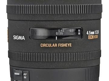 Rent: Sigma 4.5mm f/2.8 EX DC HSM Circular Fisheye