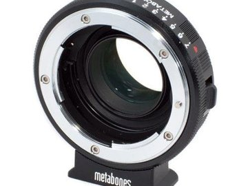Rent: Metabones Speedbooster Black Magic Pocket Cinema to Nikon F