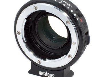 Rent: Metabones Speedbooster Black Magic Pocket Cinema to Nikon F