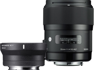 Rent: Sigma 35mm 1.4 Art lens Canon EF mount
