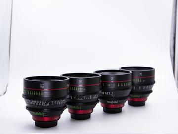 Rent: Canon EF Cinema Prime Lens Kit (24, 35,  50, 85mm)