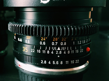 Rent: Leica R 35mm f/2.8 Cinevised Lens