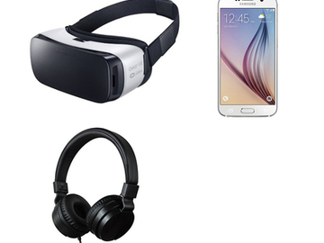 Rent: Samsung Gear VR with Samsung S6 phone & headphones package