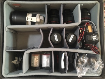 Rent: Canon 1dx Mark 2 with 6x lenses + 3x batt + 384gb Media