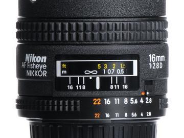 Rent: Nikon AF Nikkor 16mm f/2.8D Fisheye
