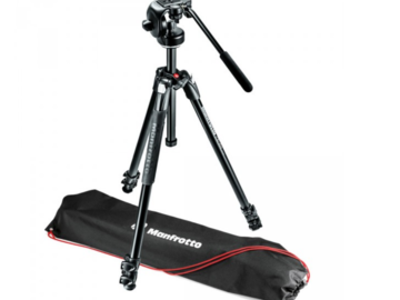 Rent: Manfrotto 290 Xtra Aluminum 3-Section Tripod with Fluid Head