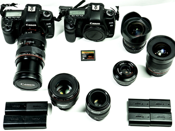 Rent: DOUBLE Hacked Canon 5DmkII with zoom and primes FULL KIT