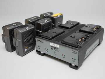 Rent: (6) Anton Bauer Dionic HC GM Batteries / Quad Charger
