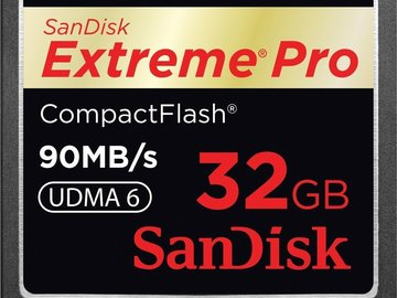 Rent: Compact Flash 32gb (90 MB/sec)