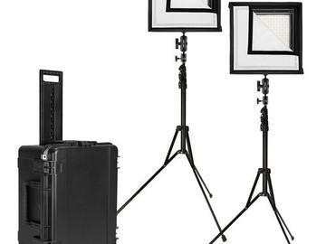 Rent: Westcott Flex Bi-Color LED Mat 2-Light Cine Studio Kit (1 x