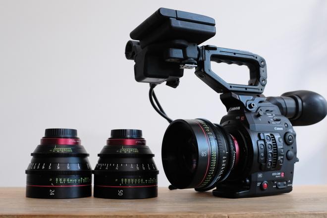 Canon EOS C300 Mark II Cinema Camera w/ Canon CNE 24, 50, 85
