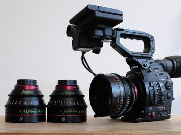 Rent: Canon EOS C300 Mark II Cinema Camera w/ Canon CNE 24, 50, 85