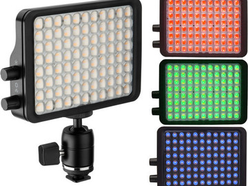 "Rent: Luxli Luxli Viola 5"" On-Camera RGB LED Light w/ NPF battery"