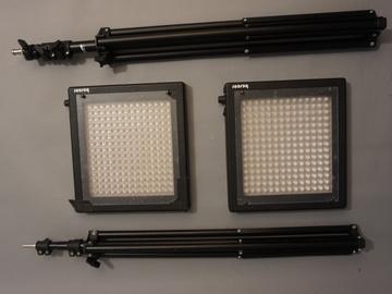 Bescor LED 95-K Dual LED Light Kit w/ Batteries