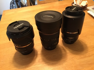 Rent: Set of 3 Tamron lenses