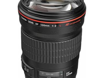 Rent: Canon L series 135mm Lens