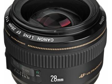 Rent: Canon USM Series 28mm Lens