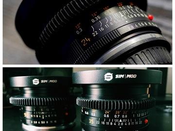 Rent: Leica R Cinevised Lens Set - 24mm, 35mm, 50mm
