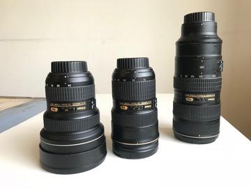 Rent: Nikon Nikkor (f 2.8) Full Lens Package