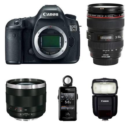 Canon EOS 5DS Kit - 2x Lens + Light Meter + 430EX iii + peli