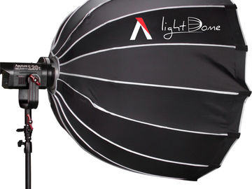 Aputure Cob 120T Kit (Fresnel & Softbox + Barndoors w. gels)