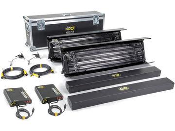 Dual Kino Flo Kits (4-ft 4-Bank Kit + 2-ft 4-Bank Kit)