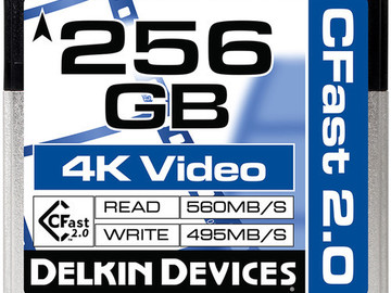Rent: Delkin 256GB CFast 2.0 Card (Alexa Mini / C300 MKII / Ursa)