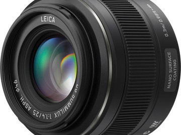 Rent: Panasonic Leica DG Summilux 25mm f/1.4 ASPH. MFT Lens