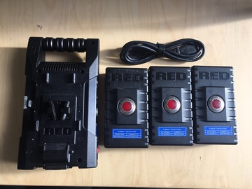 Rent: RED Brick Battery 3 Battery Kit with charger